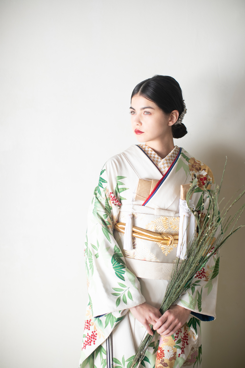 笹の葉に南天2